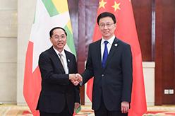 韓正會見緬甸副總統敏瑞