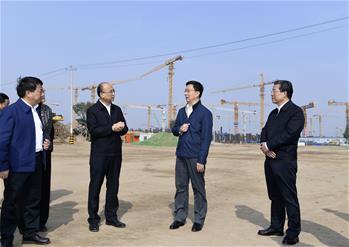 韓正在河北雄安新區調研並召開規劃建設現場辦公會