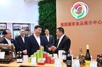 習近平考察中國與葡語國家商貿合作服務平臺綜合體