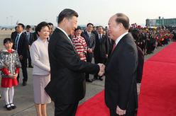 習近平離開澳門返回北京