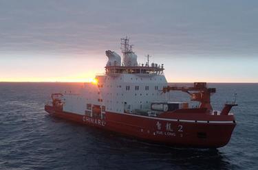 中國南極考察隊完成宇航員海採集水樣作業