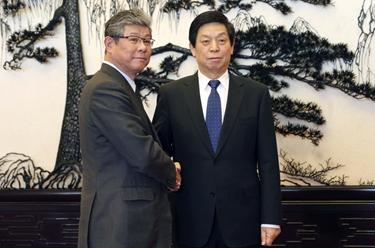 栗戰書會見日本眾議院代表團