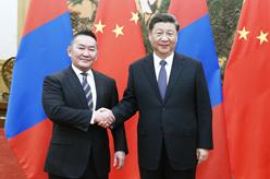 習近平同蒙古國總統巴特圖勒嘎會談