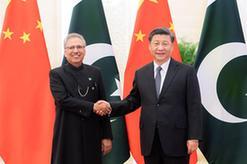 習近平同巴基斯坦總統阿爾維會談