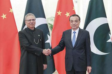 李克強會見巴基斯坦總統阿爾維