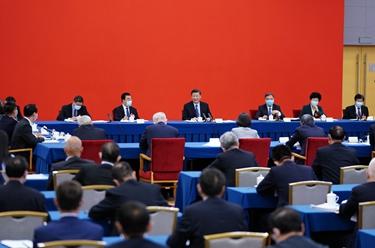 習近平看望參加政協會議的經濟界委員