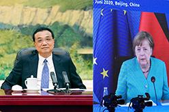 李克強同德國總理默克爾舉行視頻會晤
