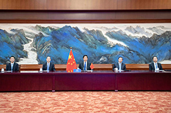 栗戰書出席第五次世界議長大會視頻會議
