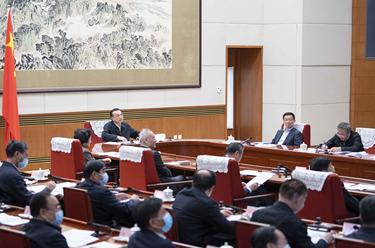 李克強主持召開經濟形勢部分地方政府負責人視頻座談會 韓正出席