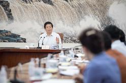 栗戰書與全國人大常委會會議列席代表座談