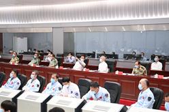 神舟十二號載人飛船發射成功 韓正在北京觀看發射實況