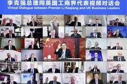 李克強出席同英國工商界代表視頻對話會