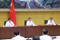 """韓正出席堅決遏制""""兩高""""項目盲目發展電視電話會議並講話"""