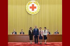 第48屆南丁格爾獎頒獎大會在京舉行 王岐山為中國獲獎者頒獎