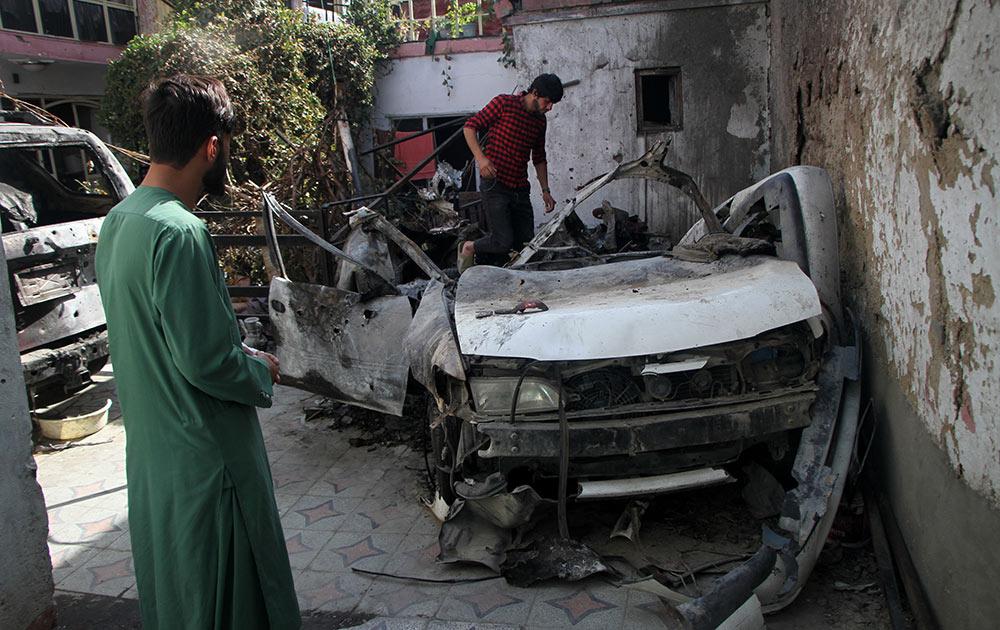 美軍承認對喀布爾的空襲造成10名平民死亡
