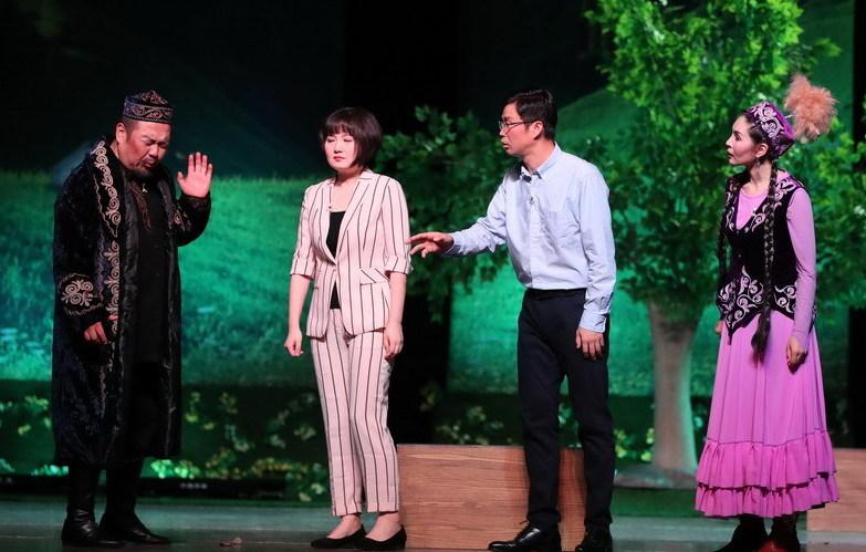 聚焦援疆幹部 話劇《那拉提戀歌》在京首演