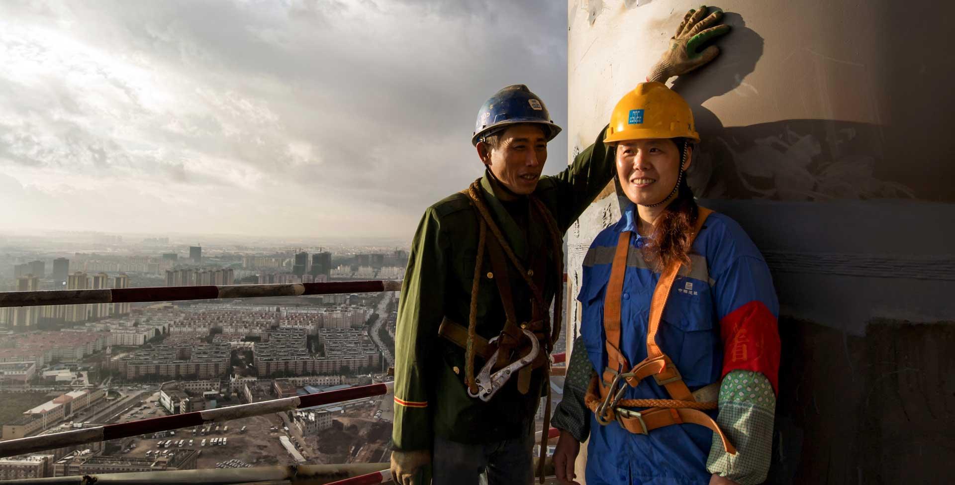 建築工地上的愛情 城市建設者的暖心瞬間
