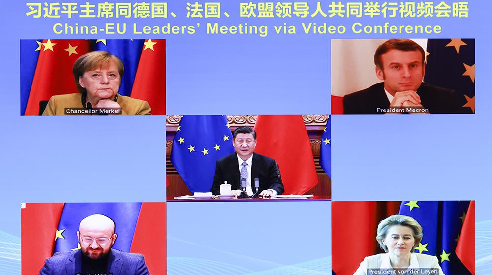 習近平同德國、法國、歐盟領導人舉行視頻會晤