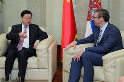 張德江對塞爾維亞進行正式友好訪問