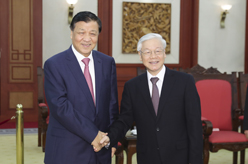 劉雲山對越南進行正式訪問