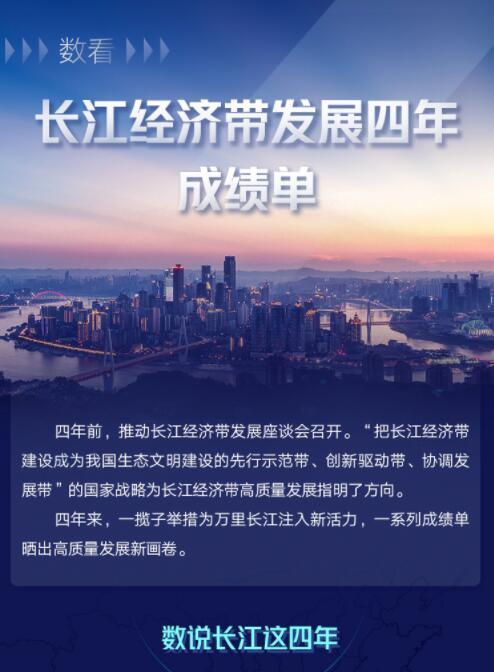 數看長江經濟帶發展四年成績單