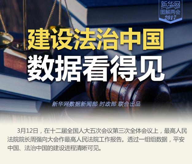 建設法治中國 數據看得見