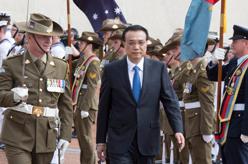 李克強出席澳大利亞總理特恩布爾舉行的歡迎儀式