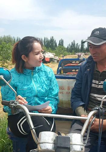 新疆喀什疏勒县融媒体中心阿依帕夏•图拉普:幸福,在这里绽放