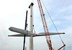 大唐哈巴河風電場33臺風機吊裝完成