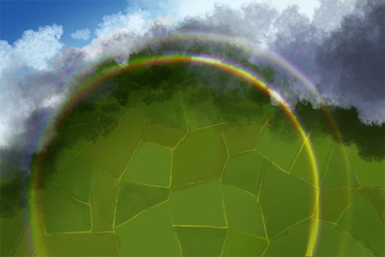 彩虹为什么是圆的?