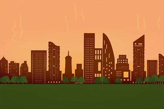 同等天气下,市区气温为什么总比郊区温度高?