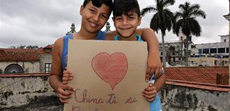 古巴兒童為中國抗擊疫情加油
