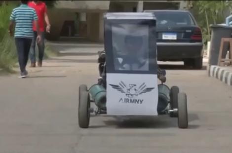 埃及大學生:研制空氣驅動卡丁車