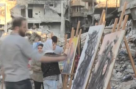 敘利亞藝術生描繪戰爭與未來