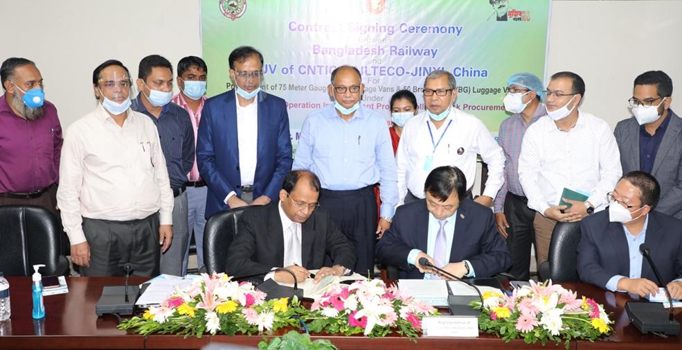 中企簽約孟加拉國火車車廂採購合同