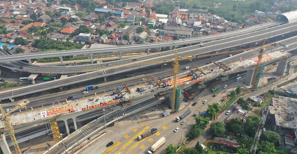 Another continuous beam closed in Indonesia's Jakarta-Bandung high speed railway
