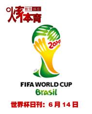 2014巴西世界杯日刊:6月14日
