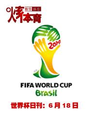 2014巴西世界杯日刊:6月18日