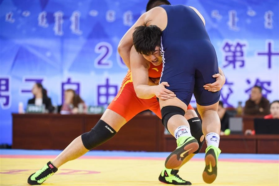 第十三屆全運會男子自由式摔跤資格賽暨全國錦標賽第二日戰報