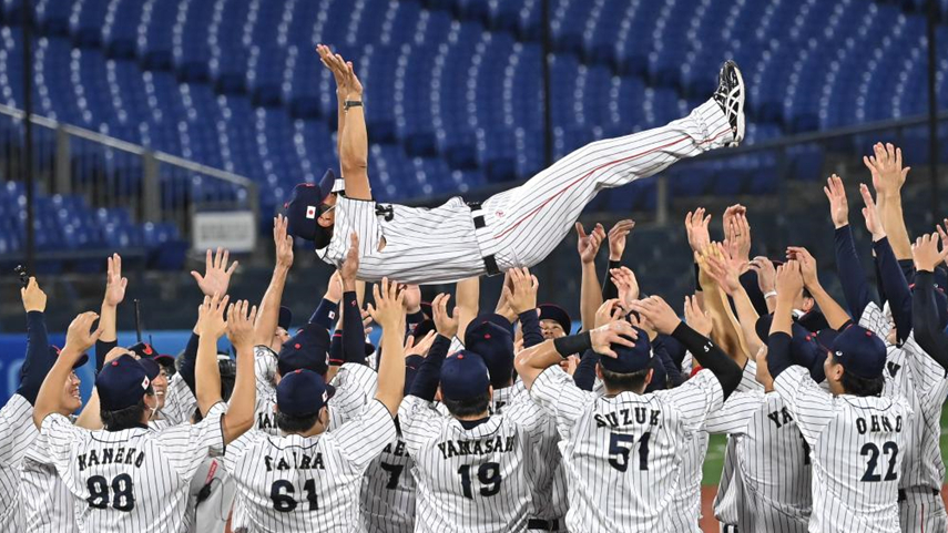 棒球:日本隊獲得冠軍