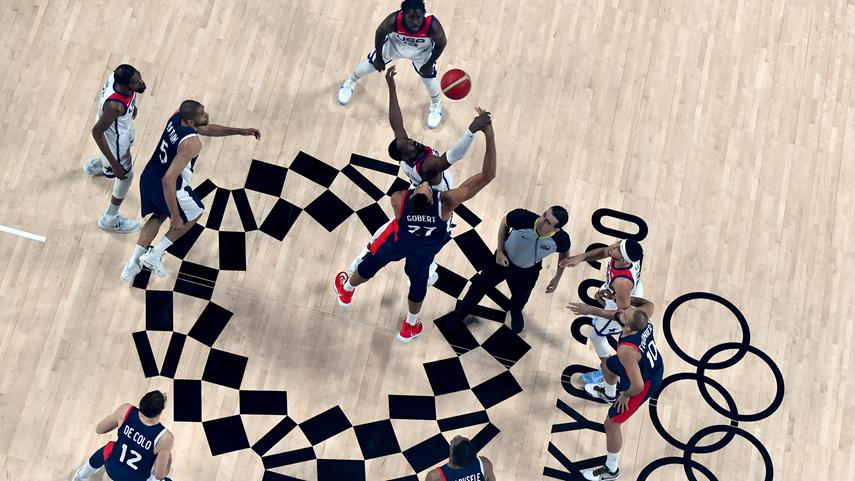 男子籃球決賽:美國隊奪冠