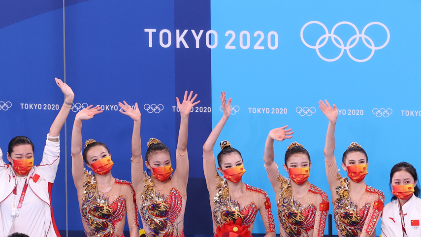 藝術體操團體全能:中國隊獲第四名