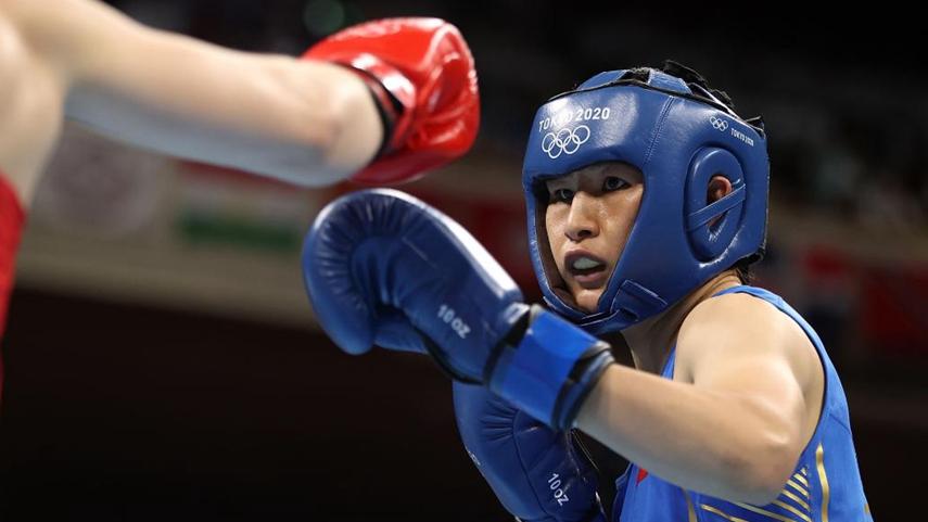 拳擊女子75公斤級:中國選手李倩獲得銀牌