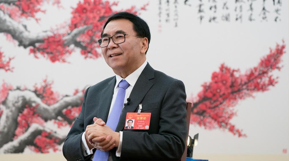 3月7日,全國人大代表、中科院院長白春禮在北京接受新華社採訪。
