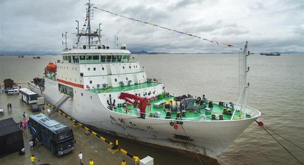 """""""向陽紅10""""完成中國大洋49航次科考任務"""