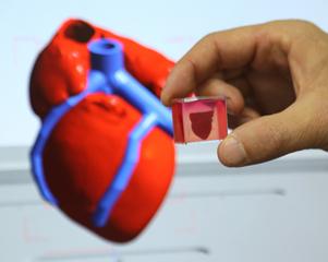 """3D打印全球首顆""""完整""""心臟"""