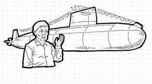 畫説第一艘常規潛艇