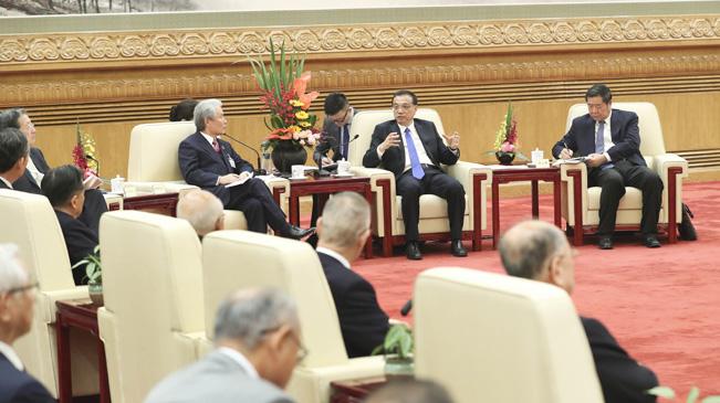 李克強會見日本經濟界代表訪華團