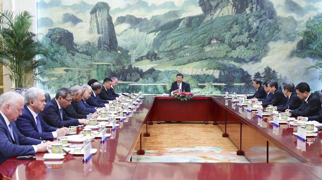習近平集體會見上海合作組織成員國安全會議秘書會議外方代表團團長