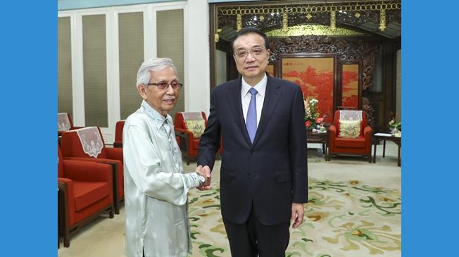 李克強會見馬來西亞總理特使